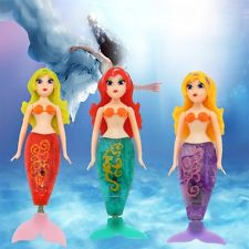 Cute Girl Kid Bathing Doll Mini Mermaid LED Robot Child