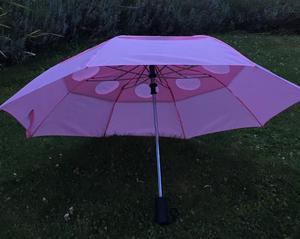 Pink pop-up umbrella