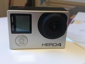 GoPro hero 4 silver action camera with accessories