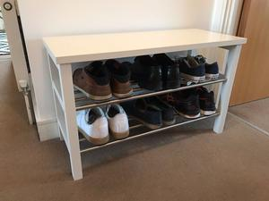 ikea tjusig shoe rack under one year of age good condition retail value
