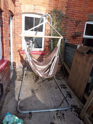 Hammock chair with metal hanging frame