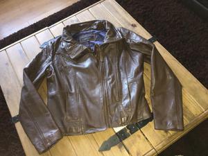 Ladies next brown leather jacket size 14