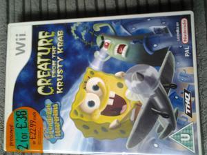 WII game Spongebob squarepants Creature from the Krusty Krab