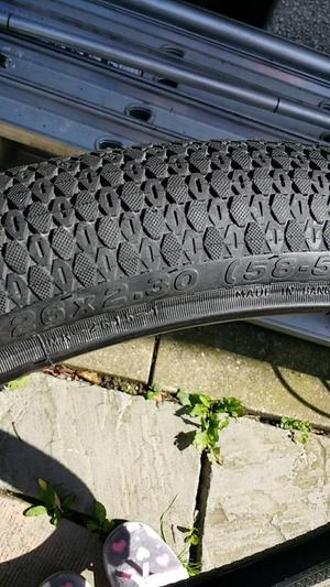 2 mountain bike tyres