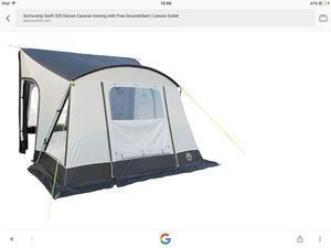 Sunncamp mirage size 12 blue awning | Posot Class