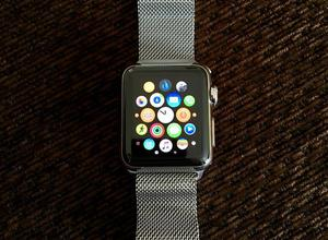 38mm Stainless Steel Apple Watch with Milanese Loop