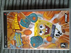 PSP game Spongebob Squarepants The Yellow Avenger
