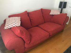Two Red Ducal Sofas