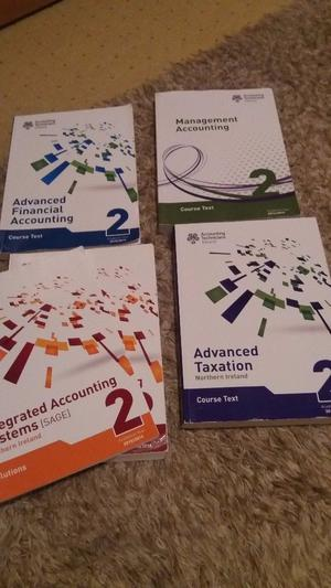 Accounting Technicians Ireland ATI second year books