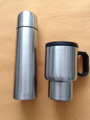 Stainless Steel Thermos & Mug with Carry Bag