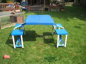 Folding Camping Table & Stool Set
