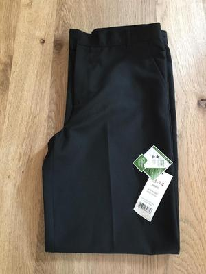 George Boys Black School Trousers - Size  Years