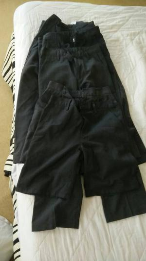 8 pairs of boys grey school trousers and shorts aged 8-9