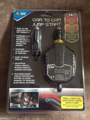Car to car jump start kit