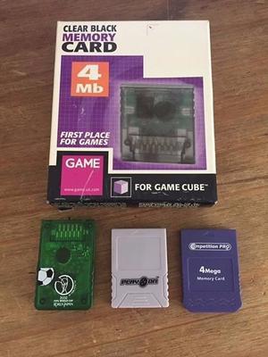 Retro GameCube memory cards x4