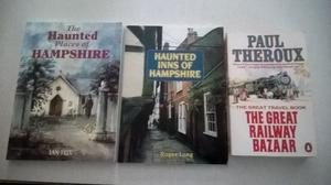 3 books (2 on haunted places in Hampshire and a travel book)