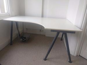 ikea galant corner desk left white in posot class. Black Bedroom Furniture Sets. Home Design Ideas