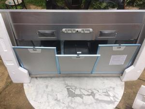 cooker hood 3 ft wide stainless steel