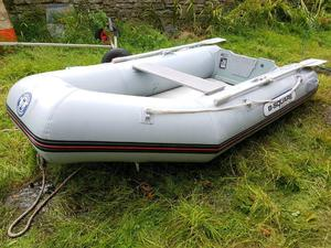 Intex excursion 5 inflatable boat dinghy posot class for Wood floor intex excursion 5