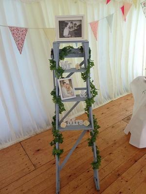 Vintage Ladder & Wedding Decorations