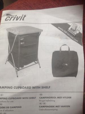 Camping Cupboard. Camping sink /table/rack.Camping larder