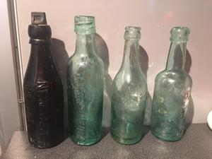 Bundle Of 4 Antique Newcastle Bottles