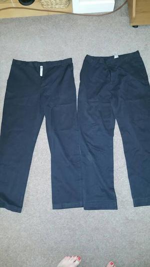 School trousers x 2 Dark grey