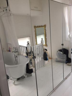 2x Ikea Pax Mirrored Door Wardrobes