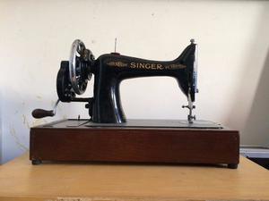 Vintage/Antique Singer Hand Turned Sewing Machine & Crocodile-skin box