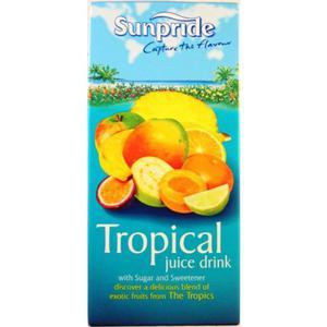 3 FOR £1.20 SUNPRIDE TROPICAL 1L JUICE DRINK