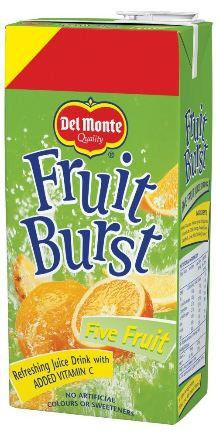 4 FOR £2.99 DEL MONTE FRUIT BURST 1L JUICE DRINK