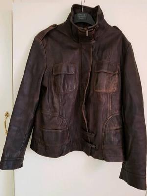 Next Ladies Brown Leather Jacket 14
