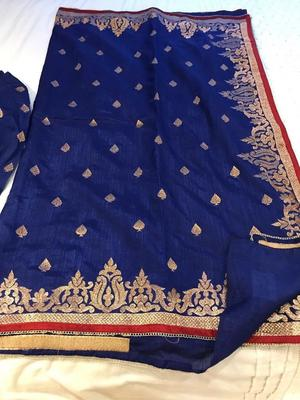 Pure silk Saree with readymade blouse