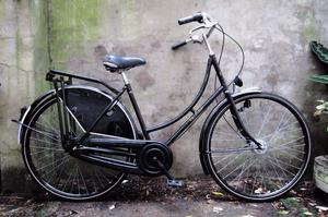 DUTCHIE. 20 inch, 51 cm. Vintage ladies womens holland dutch bike, loop frame, 3 speed, pedal brake
