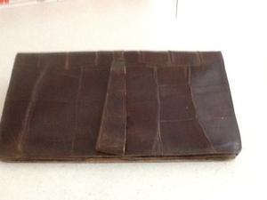 Genuine vintage 's crocodile skin clutch bag.
