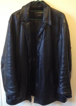 Retro, Vintage - Next Black Leather Jacket, Large