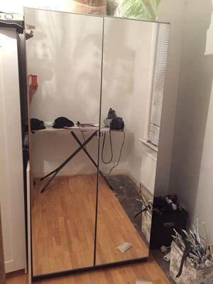 2 Door mirrored wardrobe