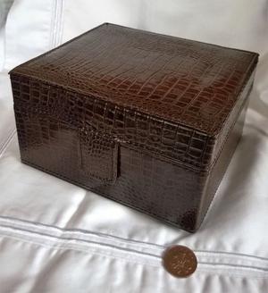 faux crocodile jewellery box