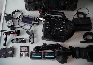 Sony FS7 camera package with case, accessories, memory, etc
