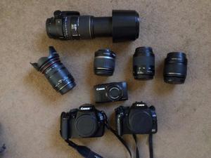 3 Canon Cameras and Accessories