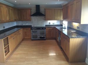 complete oak kitchen with appliances
