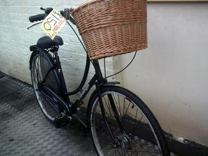 classic ladies bicycle with basket