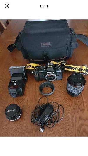 Nikon f-301 with lenses and accessories
