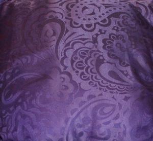 5, purple, sateen, brocade style, zipped cushion covers