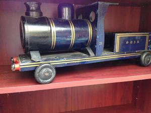 Antique wooden train