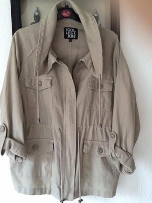 Debenhams linen khaki Jacket size 12