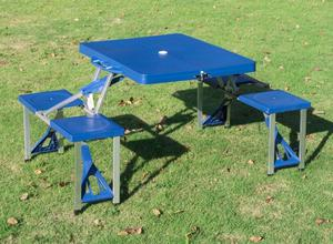 Folding camping picnic table wit 4 seats, light and compact