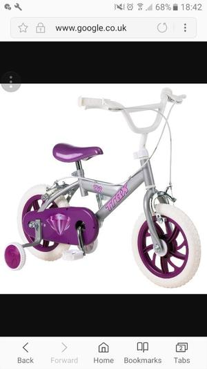 "Girls 12"" purple bike"