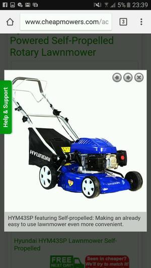 Hyundai lawnmower