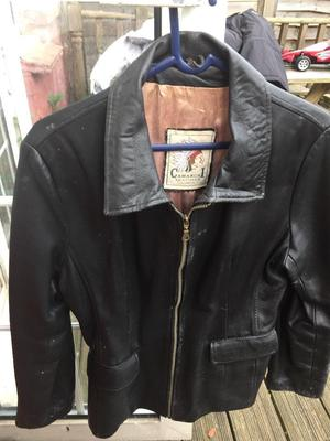 Ladies leather jacket.